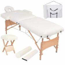 vidaXL Massageliege Hocker 2 Zonen 10cm Polsterung Tragbar Weiß Massagetisch