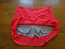 New Annika Cutter&Buck Golf Neon Orange Skort/Skirt Size 14 Retail $85