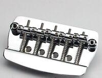 1Set 5 String Hard Tail Fixed Bass Guitar Bridge For Electric Guitar Bass Chrome
