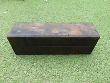 Vintage Sharpening Stone in Mahogany Box