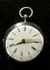 Ancienne montre à Gousset en argent, mécanique à clé, montre de Poche, Old Watch