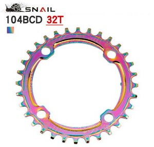MTB Road XC Bike BCD 104mm Narrow Wide Round Single Chainring 32/34/36/38T