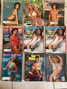 Lot 9 Sports Illustrated Swimsuit Issues.  1968-93. Brinkley, Tiegs, Ireland.