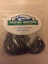 Catfish Busters Tackle Lip Stickers! 25 - 10/0 Offset Circle For Trophy Catfish