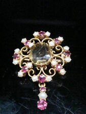 9 Carat Ruby Brooch/Pin Edwardian Fine Jewellery