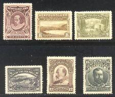 NEWFOUNDLAND #98-103 Mint - 1911 Tercentenary Set, Engraved