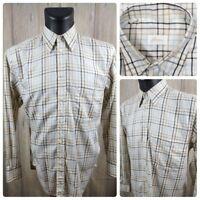 Brioni Men's Medium L/S Button Front Shirt Plaid Cotton VGC