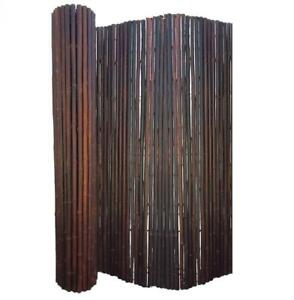 BAMBOO FENCING ROLL SCREEN DELUXE JATI SMOKED BROWN - 2.4m(H) x 1.8m(W)