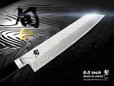"Shun Dual Core 8"" Master Chef's Knife / Kiritsuke Handcrafted Damascus in Japan"