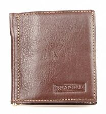 Golunski Branded QUALITY LEATHER Money Clip Wallet in Tan Brown