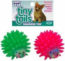 "(COLORS VARY) VOTOYS VINYL TINY TAILS MINI HEDGEHOG 3"" 2 PACK VO-TOYS SQUEAKER"