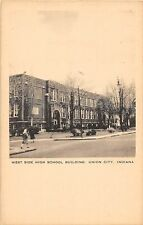 A74/ Union City Indiana In Postcard c1920 West Side High School Building