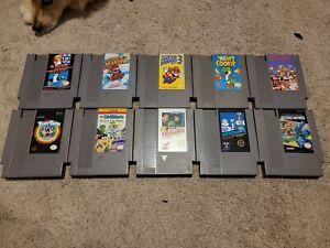 NES Nintendo Lot: Super Mario Bros. 123 Kid Icarus Yoshi Authentic Tested Rare !