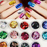 Diamond 3D Glitter Tips Sequin Nail Art Acrylic Stickers Decoration 14 Colors
