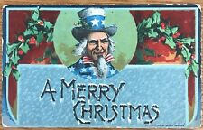 UNCLE SAM WISHING YOU A MERRY CHRISTMAS ARTHUR HORWITZ POSTCARD 254