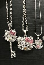 NEW 3X Beautiful rhinestone fashion style hello kitty necklace