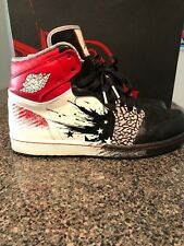 Nike Air Jordan 1 High DW Dave White 'wings of the future' black, white,red
