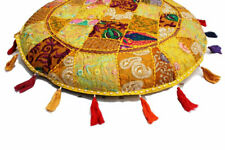 "32"" Indian Mandala Pillow Floor Round Cushion Cover Meditation Case Decor Throw"