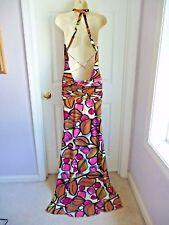 SHERRI HILL Dress 4 Evening PROM Maxi Strappy Back Draped Drop Waist Geometric