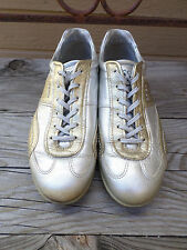 ECCO Gold Silver Spikeless Golf Shoes Women's 7-7.5  (eur 38)