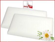 2 Cuscini guanciali DOLCE SOGNO memory foam saponetta fodera lavabile 100%cotone