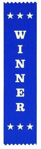 25 Winner Award Ribbons 200 x 50 mm - Metallic GOLD print