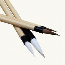 Brush Chinese Painting Calligraphy Writing Set Sumi Hair Pen Wolf E Japanese NEW