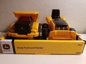 Tomy John Deere Dump Truck and Tractor Set NEW