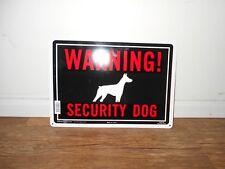 Hillman Center Warning Security Dog 14 x 10 Metal Hanging Sign