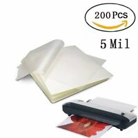 """200 Clear 5 Mil Letter Thermal Laminating Laminator Pouches Sheets 9""""x11.5"""" Size"""