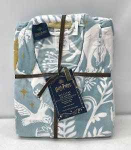 Pottery Barn TEEN Harry Potter Patronus Damask Flannel LARGE Pajamas~Mystic Mint