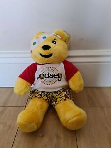 Build a Bear Pudsey Bear w/ Matching T Shirt, Shorts Rare Children in Need