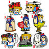 Anime POP TEAM EPIC rubber Keychain Key Ring Race straps
