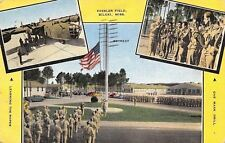 Biloxi-Leesler AFB- MS 1944 Retreat~Gas Mask Drill~Learning the Ropes Linen WWII