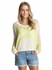 Roxy Woman Small Top 3/4 sleeve Tropical Landscape TV Yellow Graphic Tee