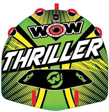 THRILLER Watersports Inflatable Water Tube Deck , Boat Towable, Wild Wake