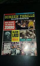 Screen Thrills magazine #9 1964 film Zorro Buck Jones Alan Ladd Tarzan Superman