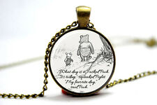 the Pooh quote necklace. inspirational quote classic pooh. pendant necklace