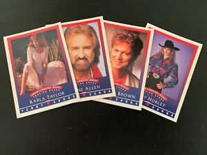 1992 Tenny Cards Super Country Music Cards  -  U PICK FROM LIST