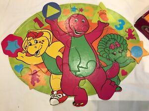 VINTAGE PRE SCHOOL FLOOR PUZZLE (2005) BARNEY  12 EXTRA LARGE PIECES