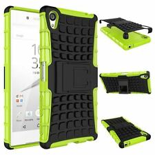 Heavy Duty Shock Proof Stand Case Cover Military Builder Sony Xperia XZ Premium