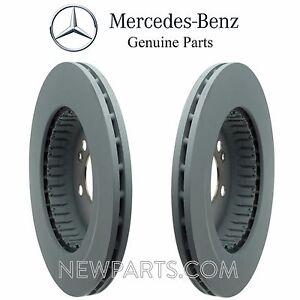 For Mercedes W213 E300 W205 Pair Set of 2 Rear Disc Brake Rotors Tensile Hubs