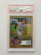 2018 Topps Aaron Judge '83 Silver Pack Gold #/50 PSA 10 *** POP 4 ***