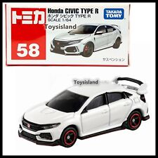 TOMICA 58 HONDA CIVIC TYPE R 1/64 TOMY 2018 JUNE NEW MODEL DIECAST CAR WHITE (B)