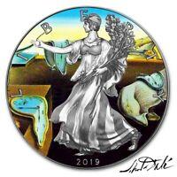 USA SALVADOR DALI American Silver Eagle 2019 Walking Liberty $1 Dollar Coin 1 oz