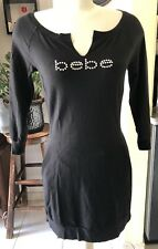 Bebe Black 3/4 Sleeve Bodycon/shesth Women Mini Dress Size Medium