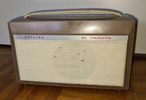 Philips All Transistor 1960er Jahre Plattenspieler Kofferradio