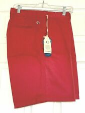 Men's Castaway Hurricane Red  Golf Bermuda Shorts NWT! Size 32