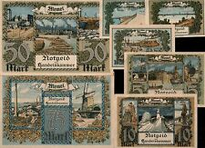 REPRINTS! COPIA! 1922 MEMEL/KLAIPEDA SET 1/2, 1, 2, 5, 10, 20, 50, 75, 100 MARKS