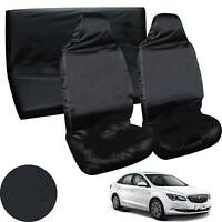 Universal Car Seat Covers Full Set Sporty Black Waterproof  Washable Compatible